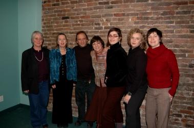 Avec Mireille gagné (direction et coordination), Diane Labrosse, André Hamel, Solange Girard, Micheline Clouard et Julie St-Arnault. Photo: Frédéric-Georges Liguez