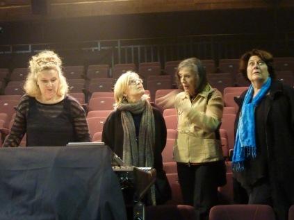 Répétitions théâtre Marni, Ingrid Dreze, Elsa Justel, Chrisitne Groult, Bruxelles