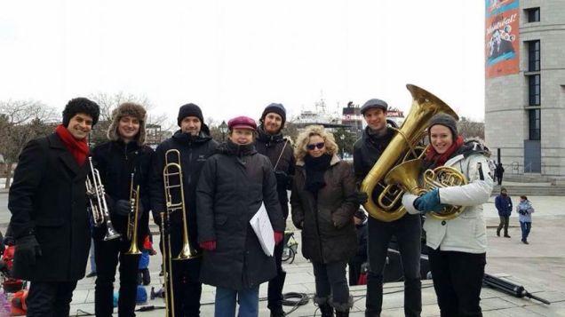 Avec l'ensemble magnitude6 et la compositrice Sonia Paço-Rocchia